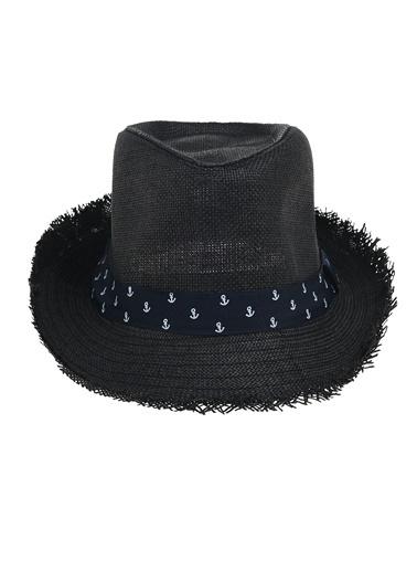 Morhipo Beach Çapa Detaylı Şapka Siyah